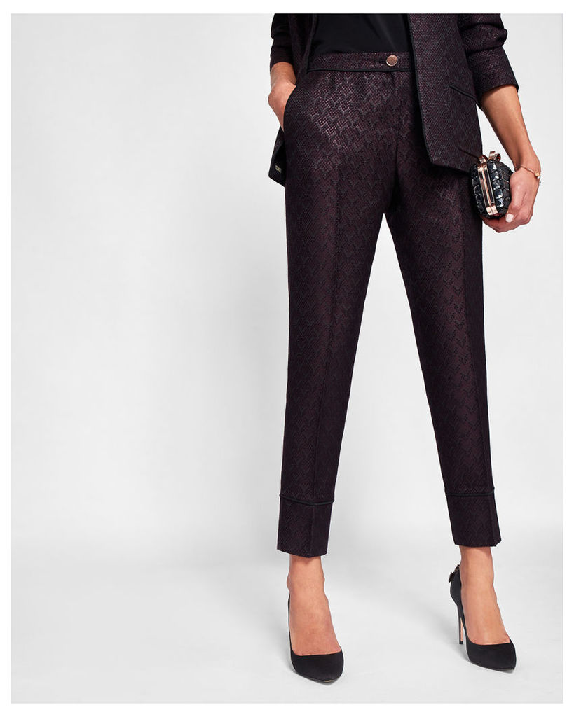 Ted Baker Jacquard piping suit trousers Grape