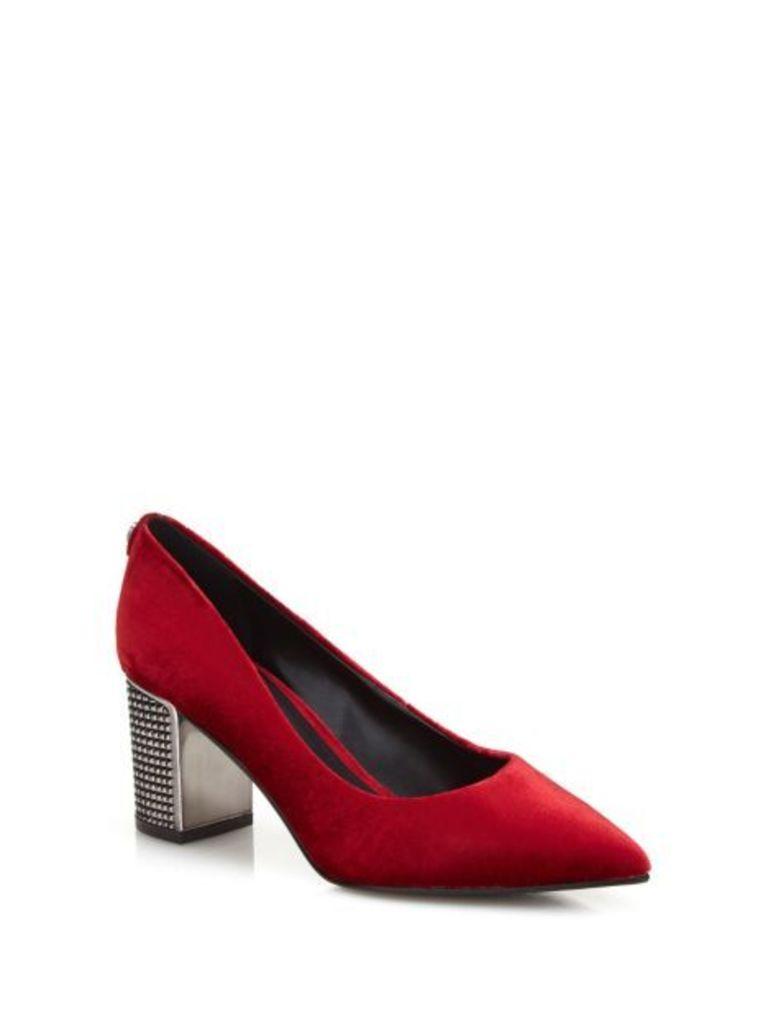 Guess Biddia Velvet Court Shoe