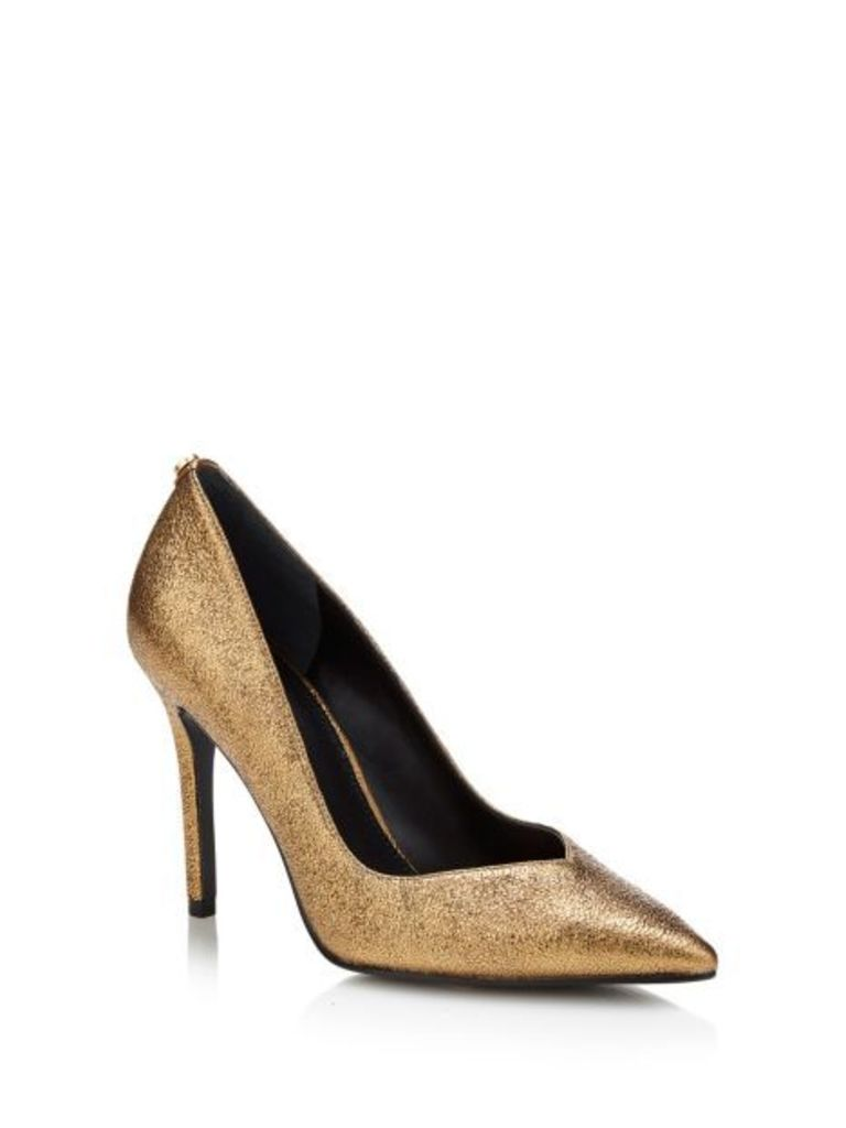 Guess Becool Laminated Leather Court Shoe