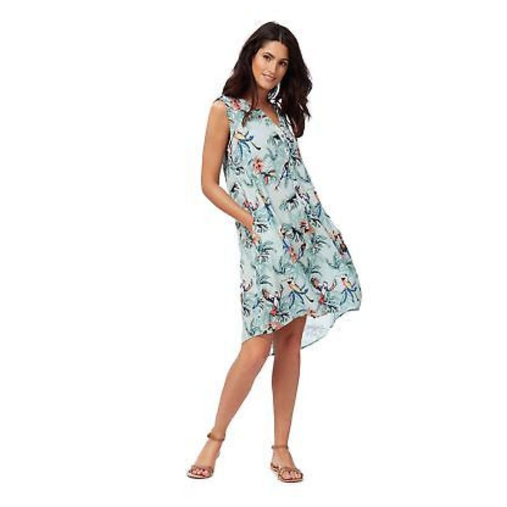 Mantaray Womens Light Blue Parrot Print Dress From Debenhams