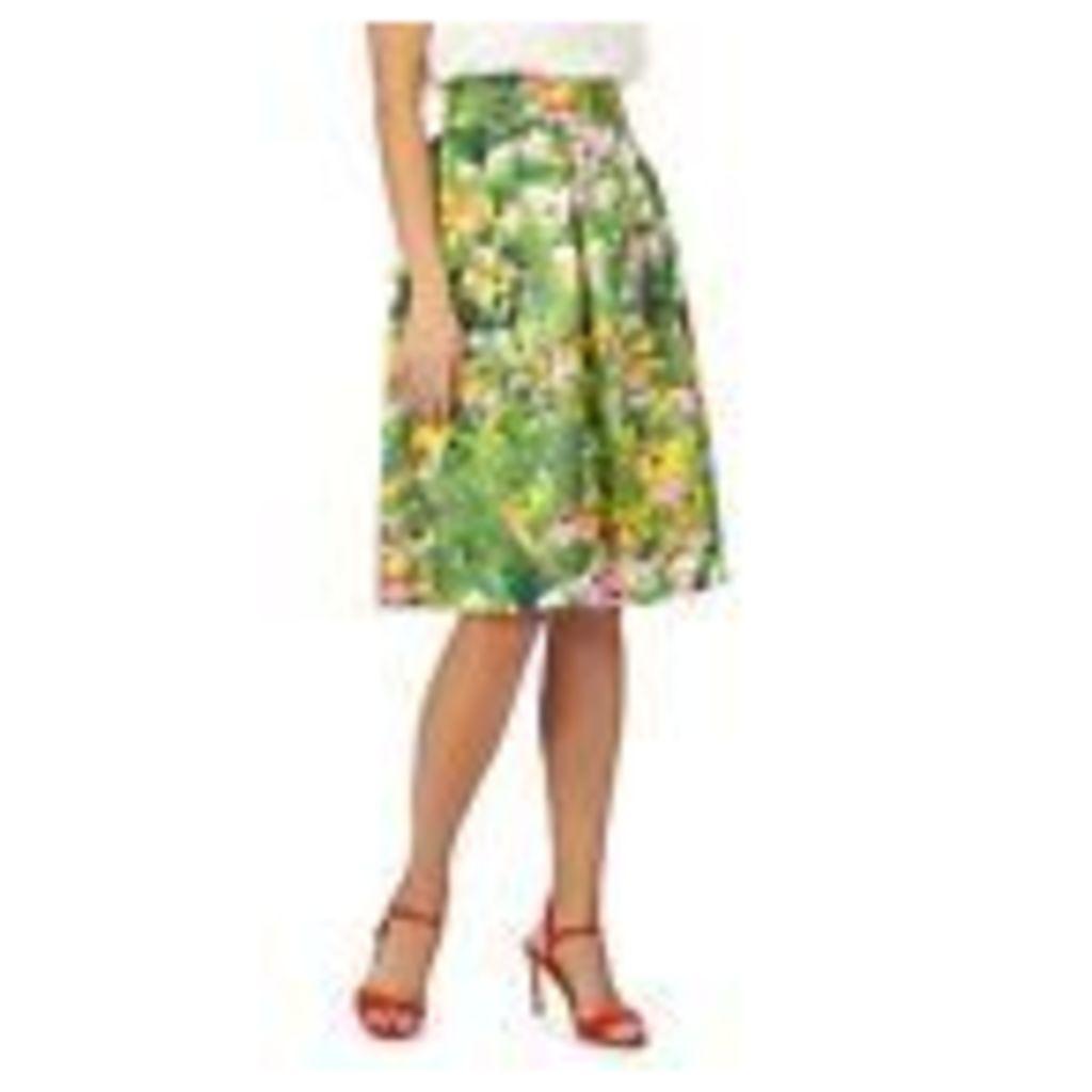 Racing Green Womens Green Floral Print Skirt From Debenhams