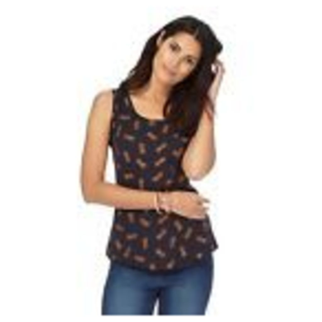The Collection Womens Navy Pineapple Print Pocket Vest Top From Debenhams 26