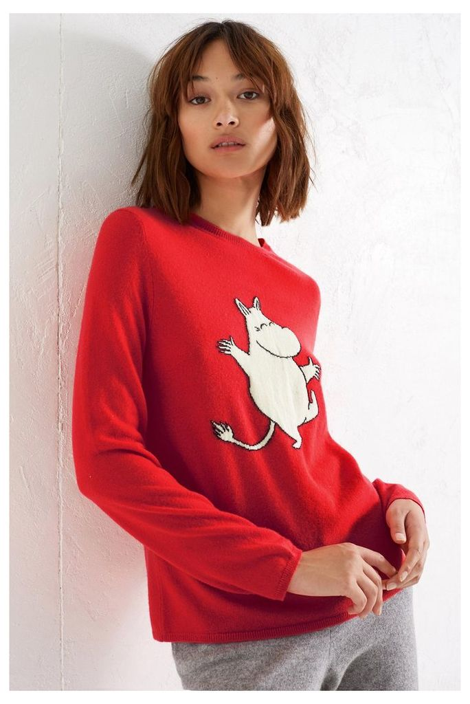 NEW Red Dancing Moomin Cashmere Sweater