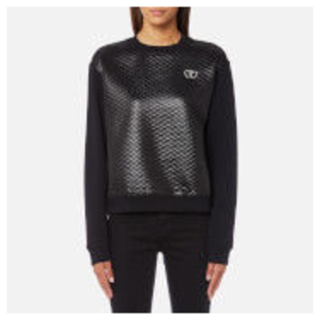 Love Moschino Women's Quilted Sweatshirt - Black