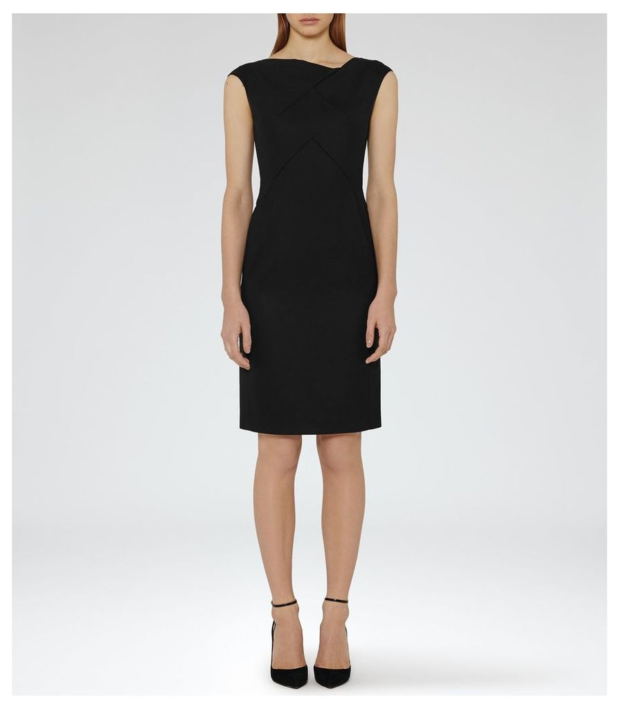 REISS Dartmouths Dress - Tailored Dress in Black, Womens, Size 4