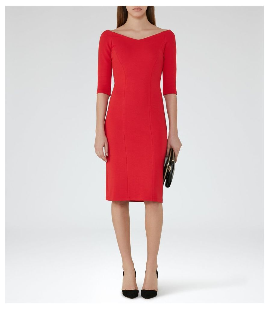 REISS Aimee - Off-the-shoulder Dress in Red, Womens, Size 4