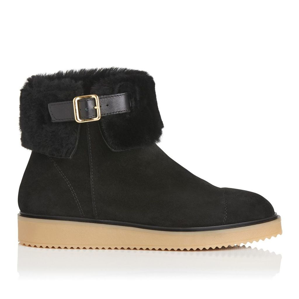Maci Black Suede Ankle Boots