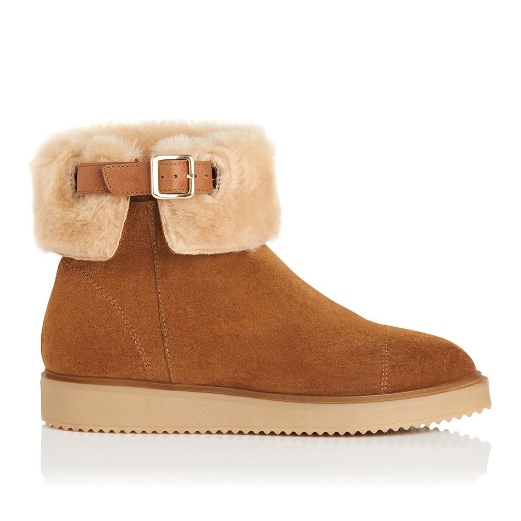 Maci Tobacco Suede Ankle Boots