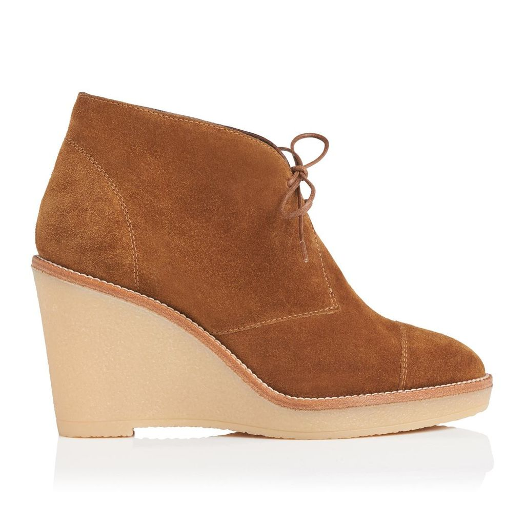Madi Tobacco Suede Ankle Boots