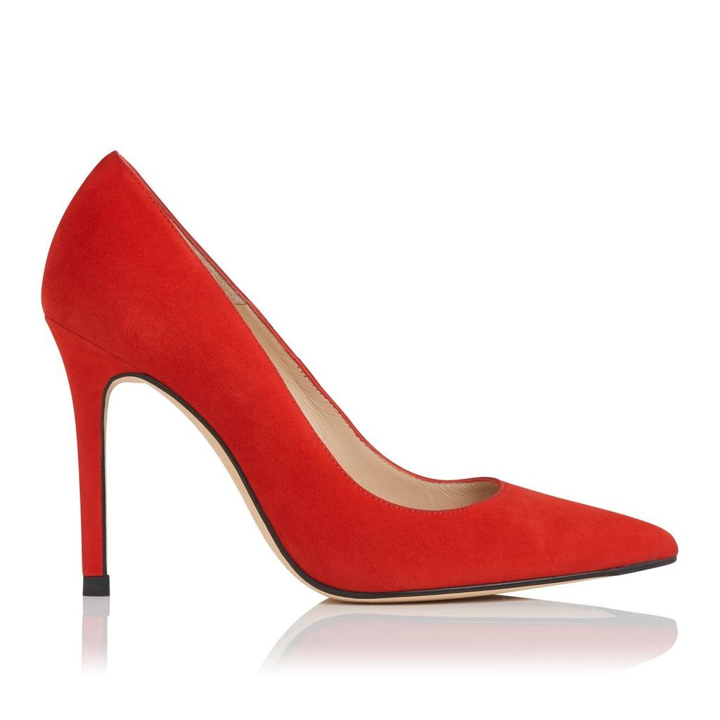 Fern Red Suede Closed Courts