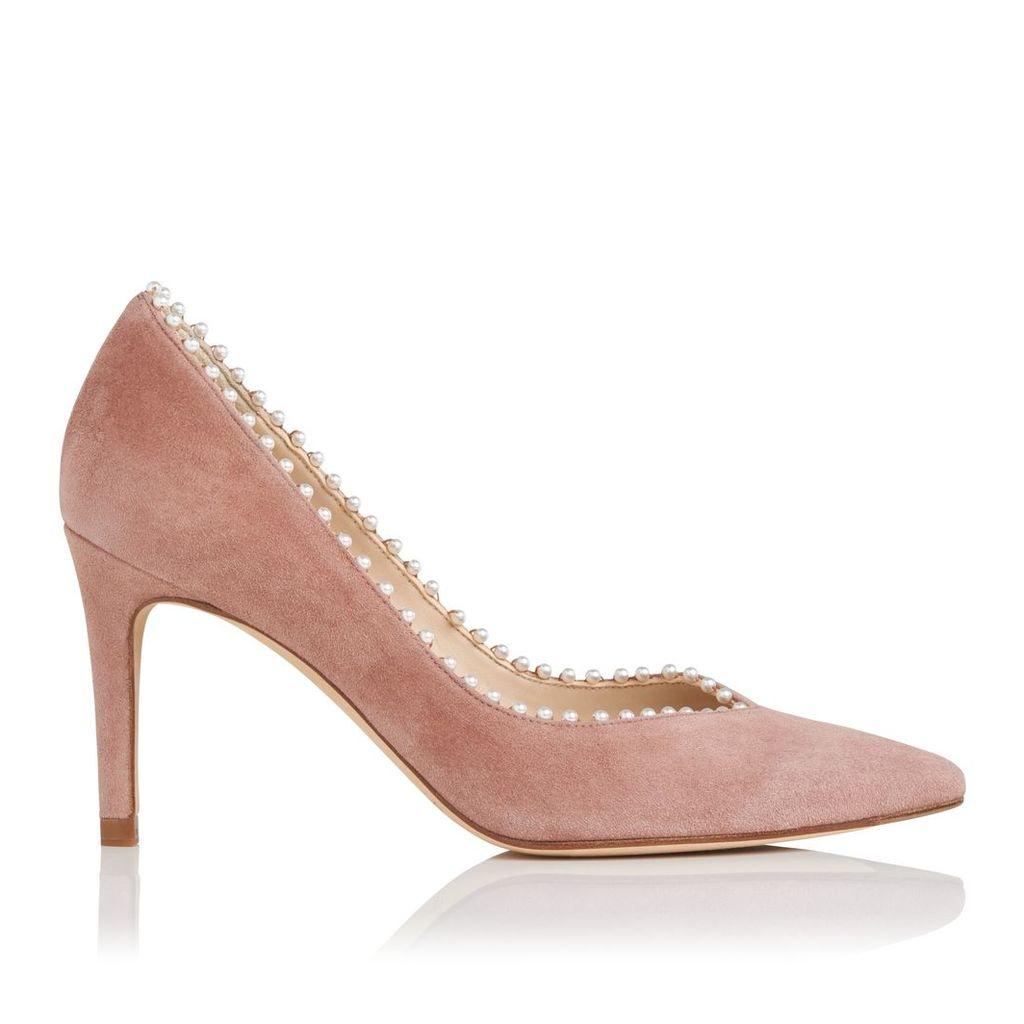 Fifi Dark Pink Suede Closed Courts