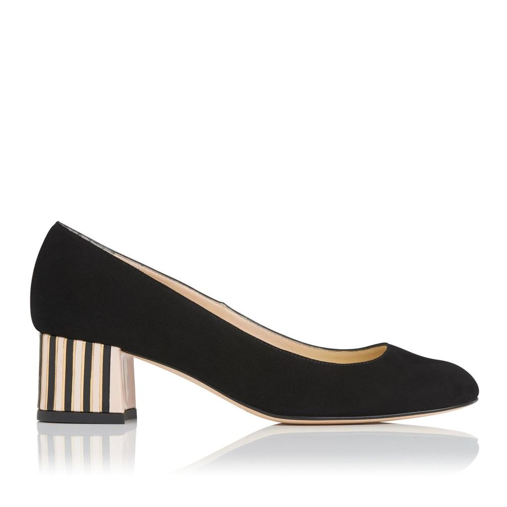 Maisy Black Suede Closed Courts