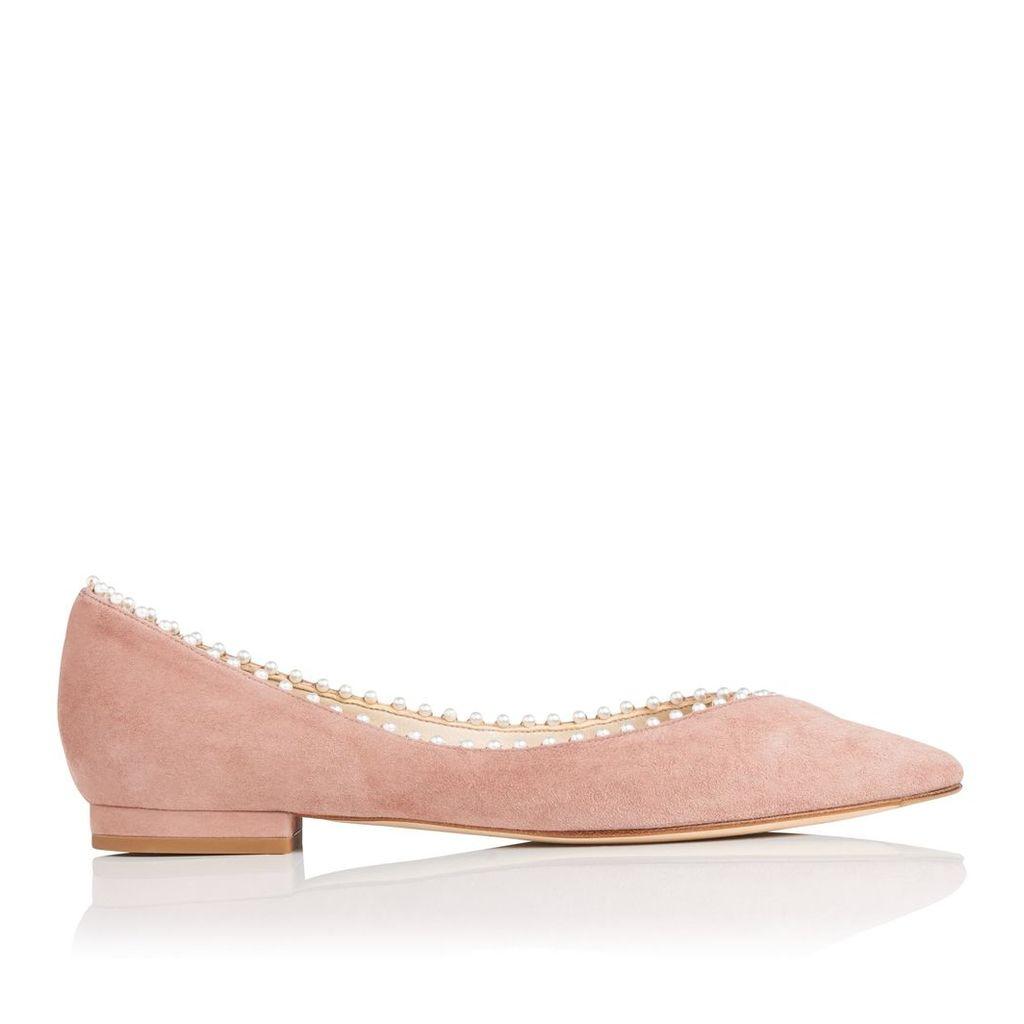 Florence Dark Pink Suede Flats