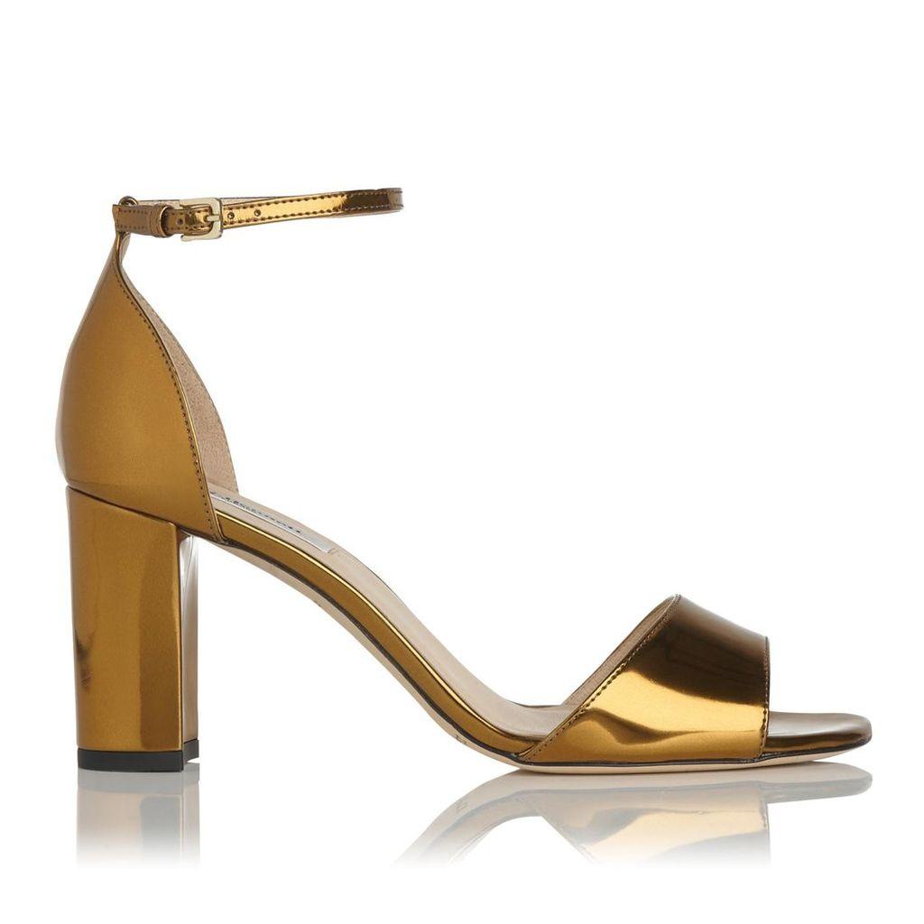 Helena Gold Formal Sandals