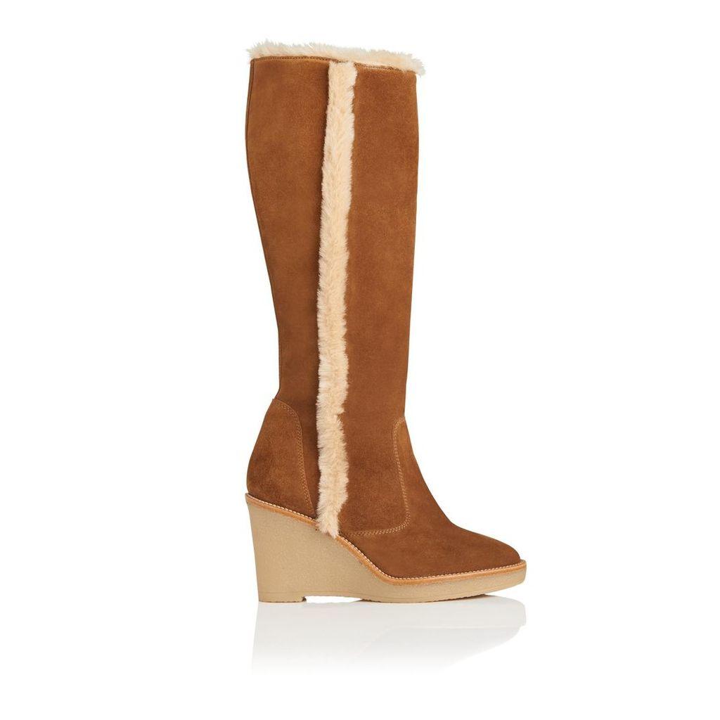 Margie Tobacco Suede Knee Boots