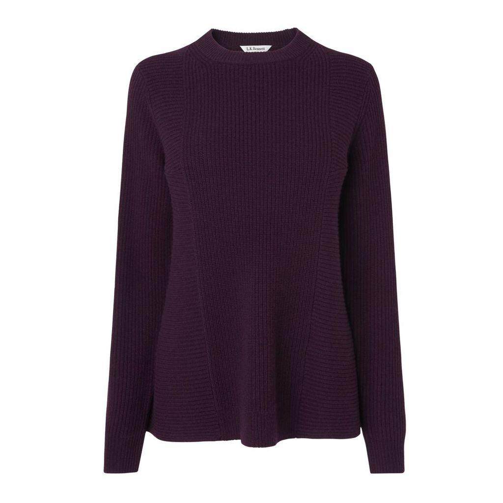 Alma Purple Wool Jumper
