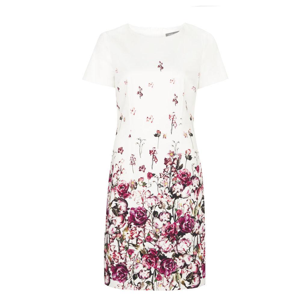 Garden Floral Print Shift Dress
