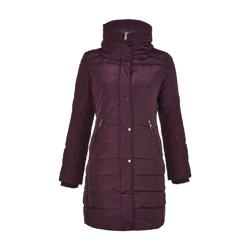 Red Panelled Puffa Coat