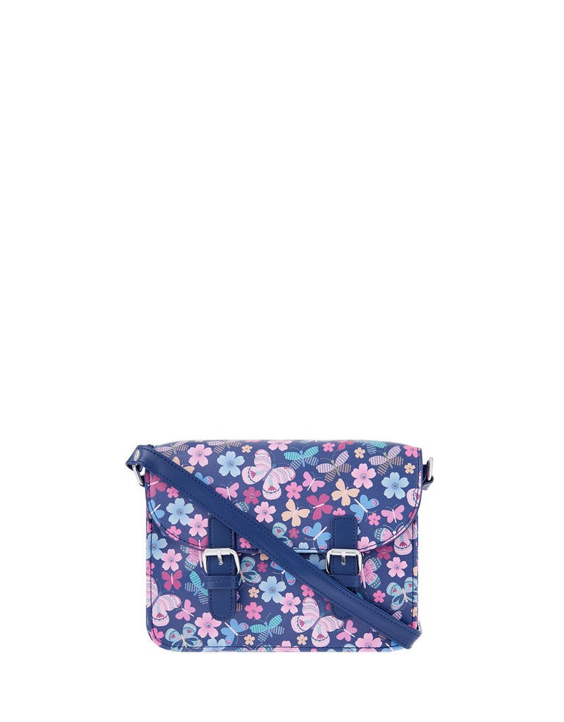 Butterfly Print Satchel Bag