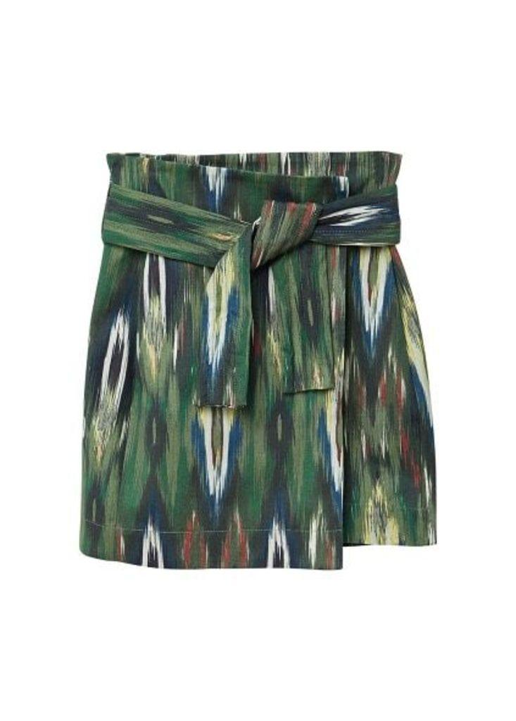 Knot printed skirt