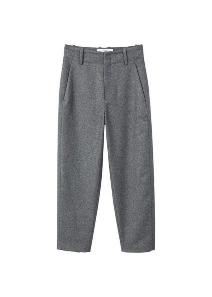 Flecked wool-blend trousers