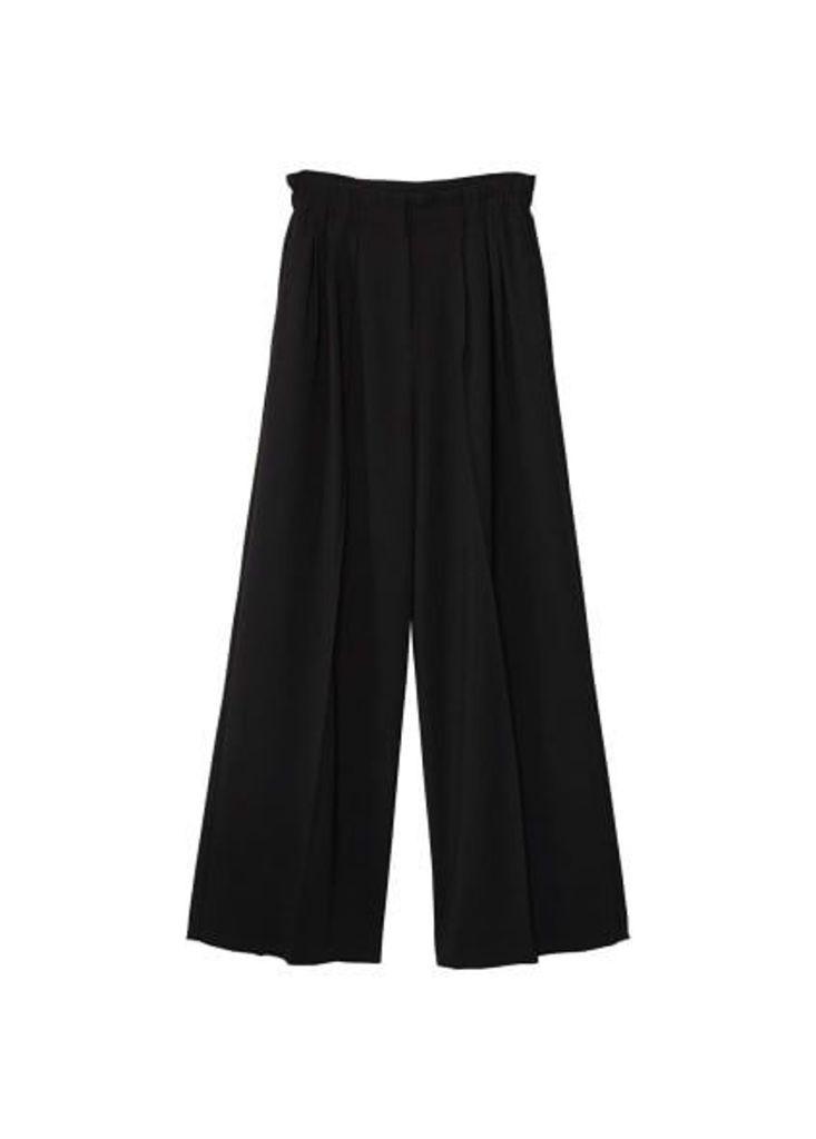 High-waist palazzo trousers