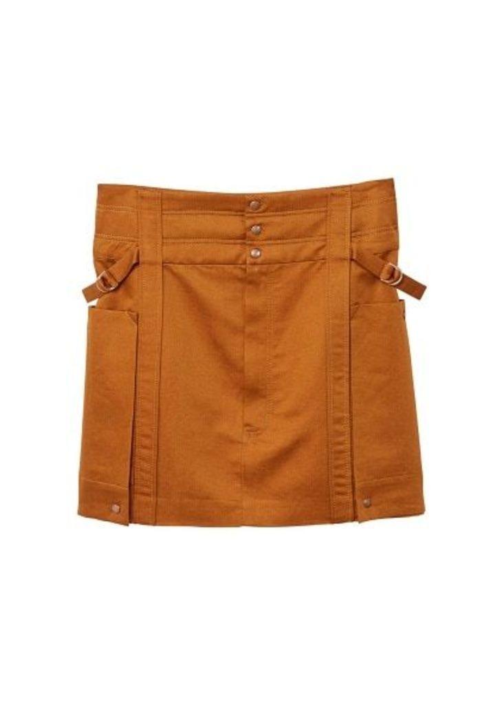Organic linen cargo shirt
