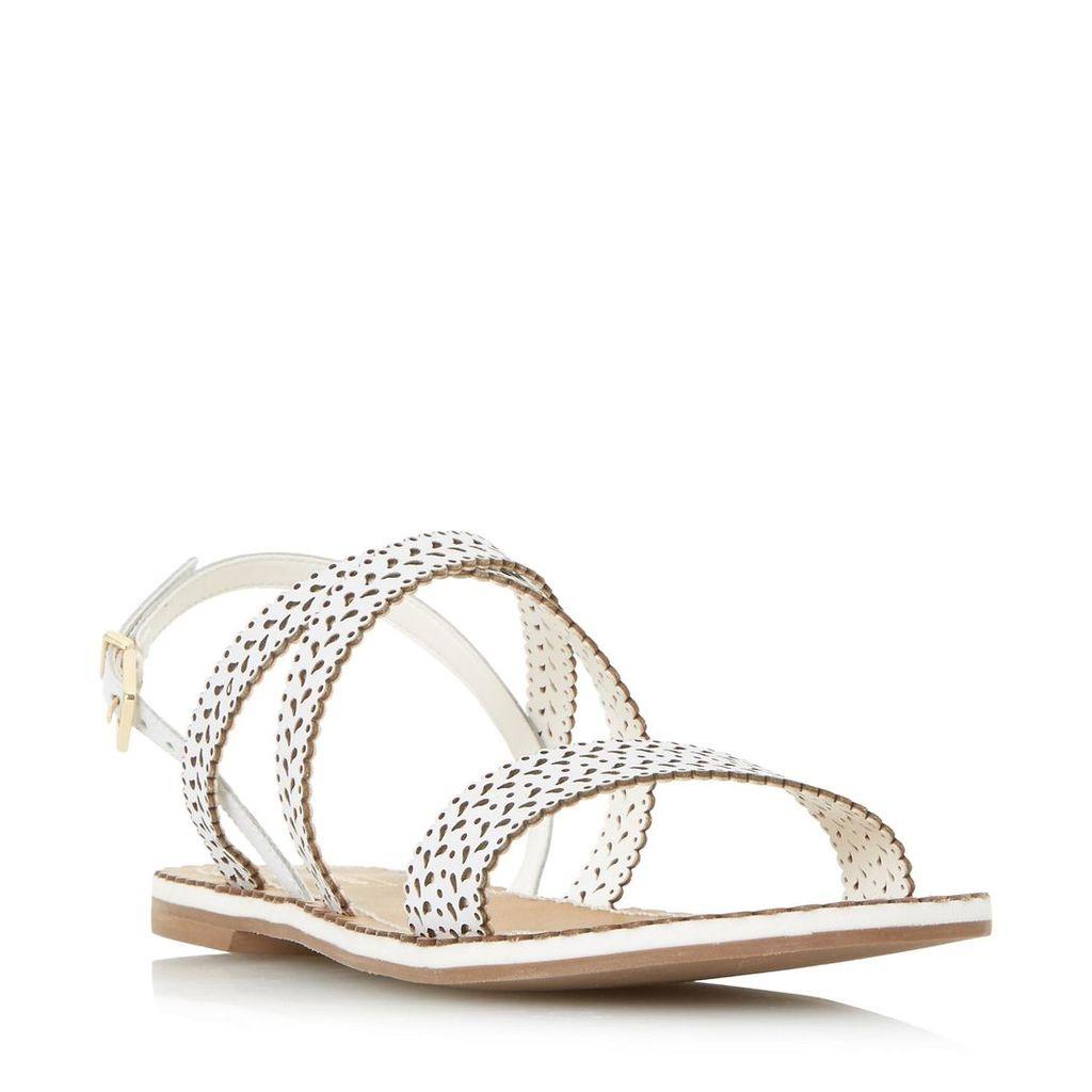 Lilo Laser Cut Flat Sandal