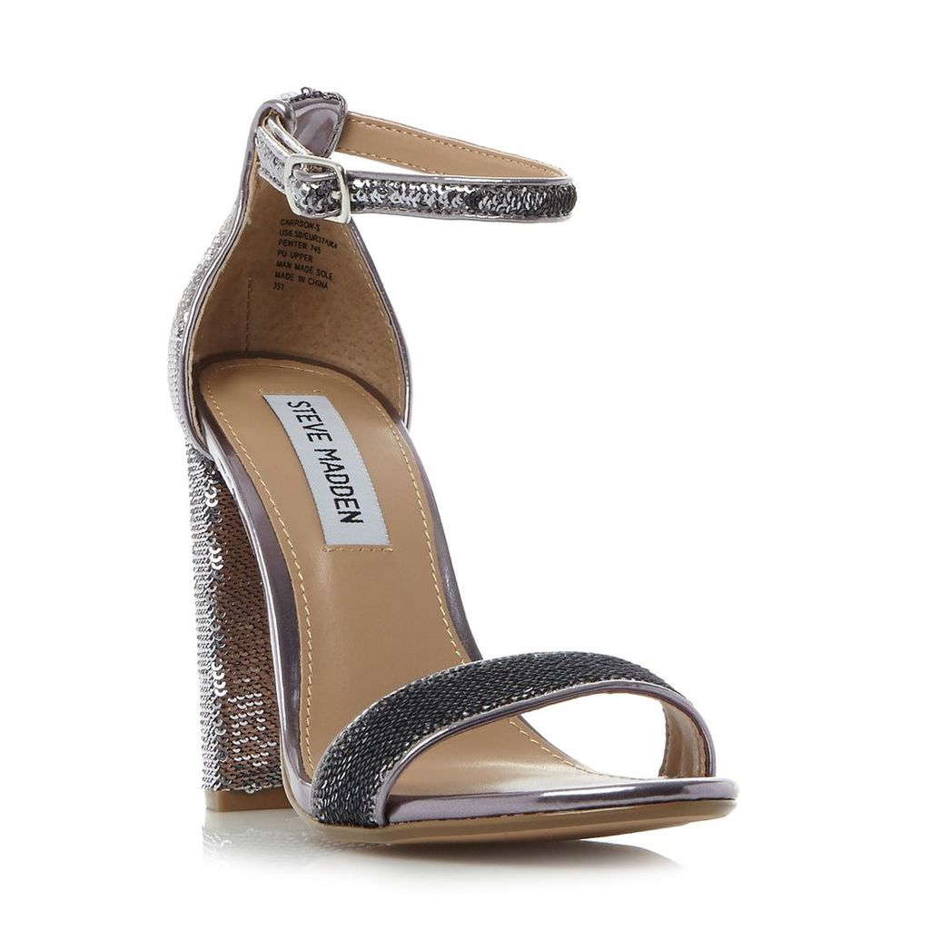 Carrson-S Sm Sequined Two Part High Heel Sandal