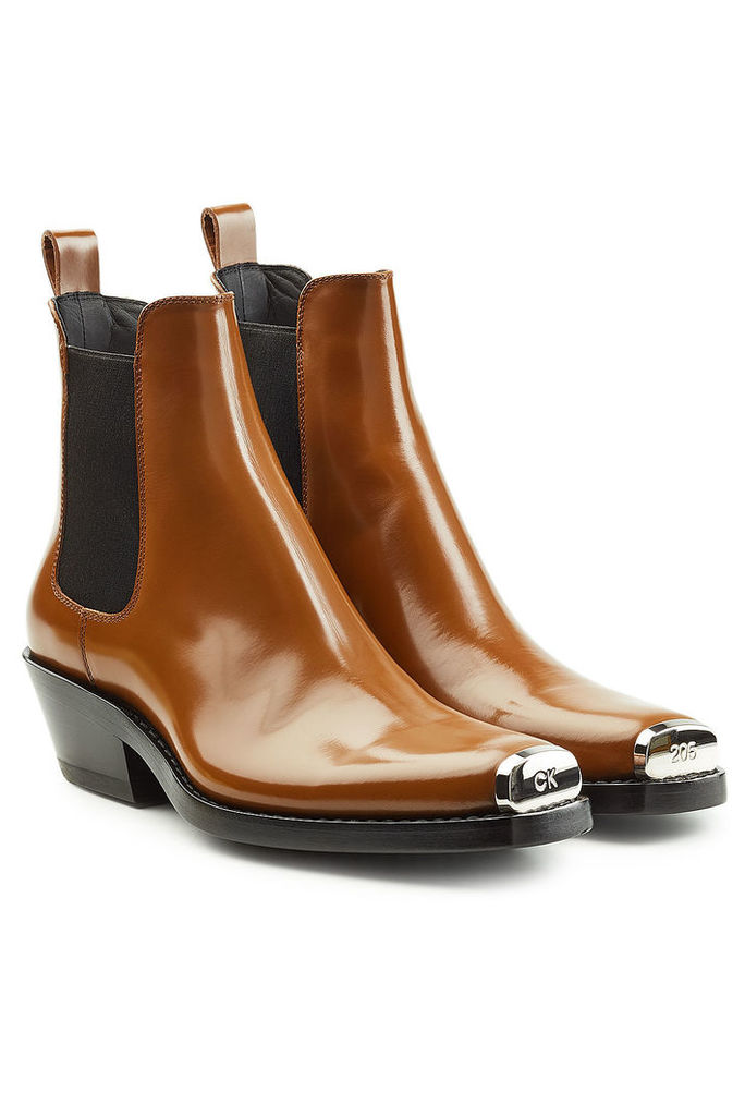CALVIN KLEIN 205W39NYC Leather Ankle Boots