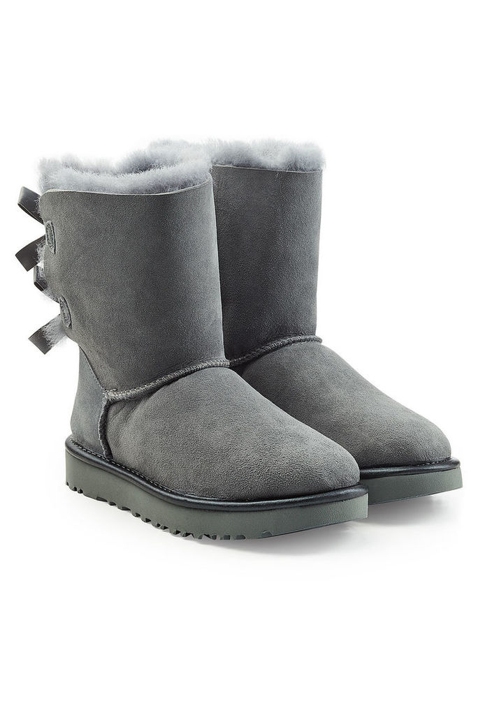UGG Australia Short Bailey Bow Suede Boots