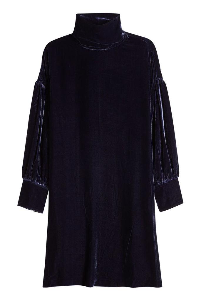 M i H Velvet Dress with Silk