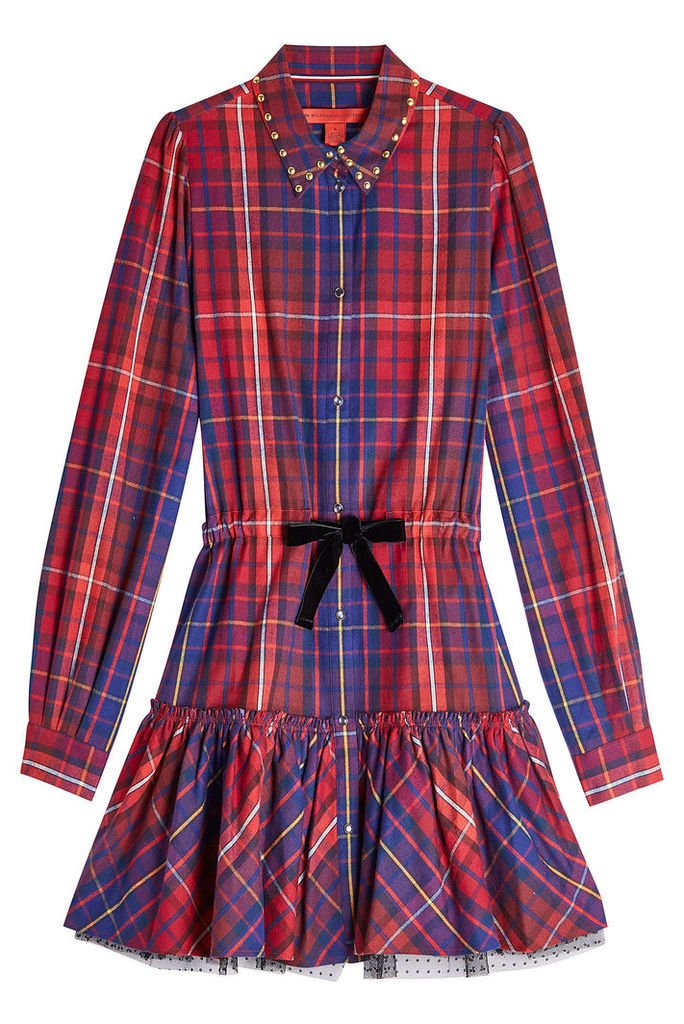 Hilfiger Collection Cotton Mini Dress with Tulle