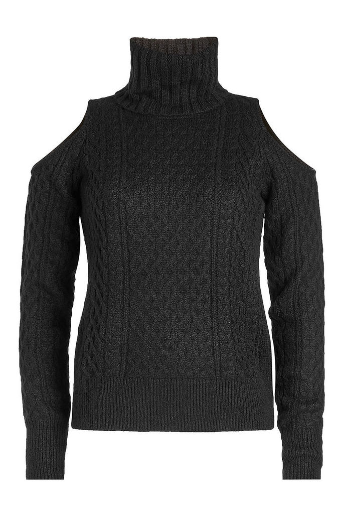 Theory Turtleneck Pullover with Cold Shoulders