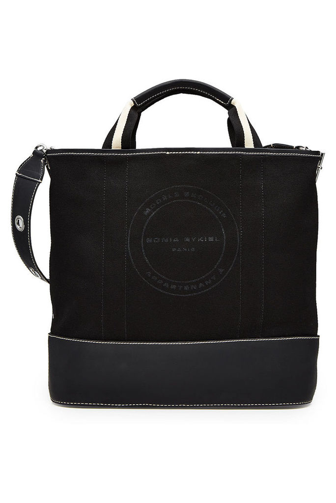 Sonia Rykiel Printed Canvas Tote with Leather