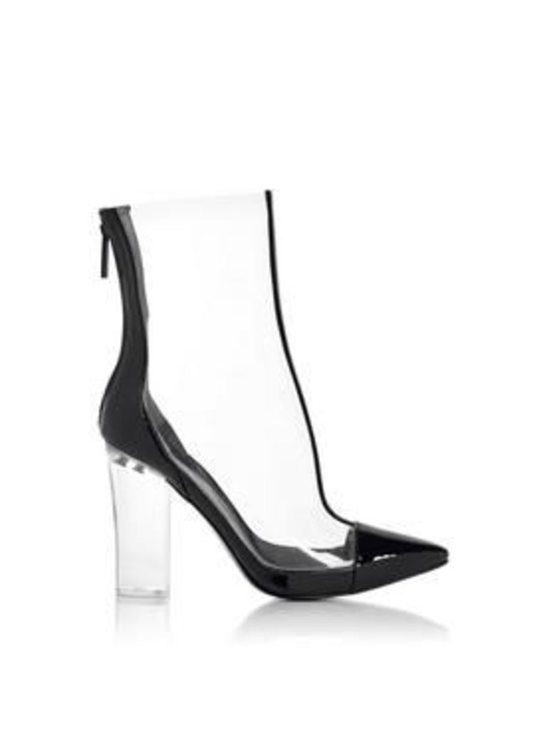 Kendall + Kylie Haven Plastic Heeled Ankle Boots - Clear
