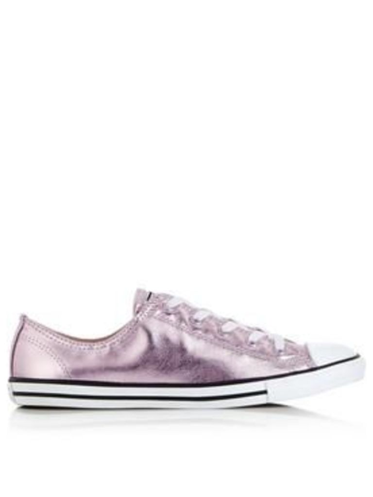 Converse Chuck Taylor All Star Dainty Eva New Iridescent Trainers - Rose Gold