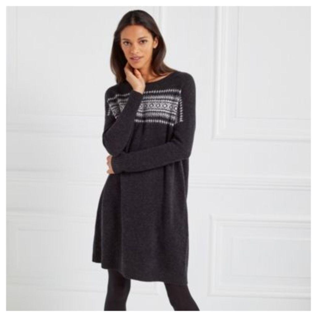 Wool Blurred Fair Isle Dress