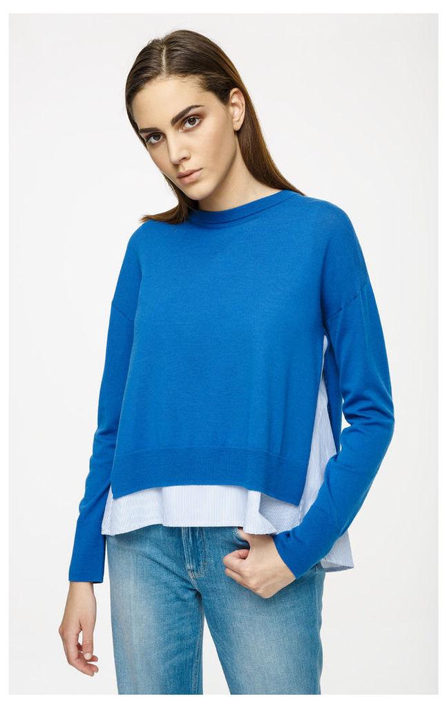 Two-in-One Virgin Wool Sweater