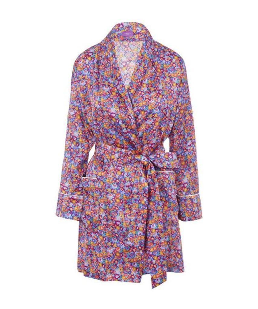 Carolina Short Silk Robe