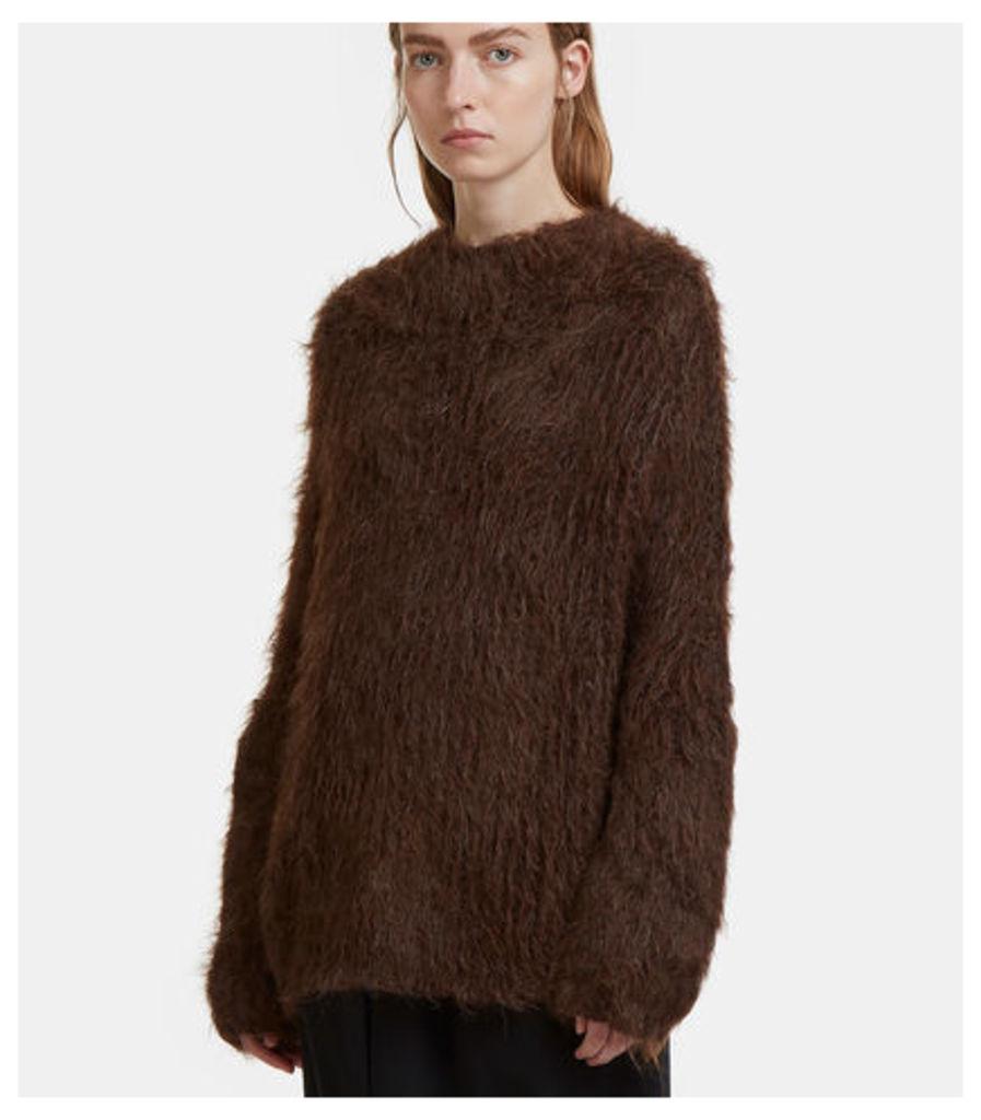 Oversized Textured Pyramid Sweater