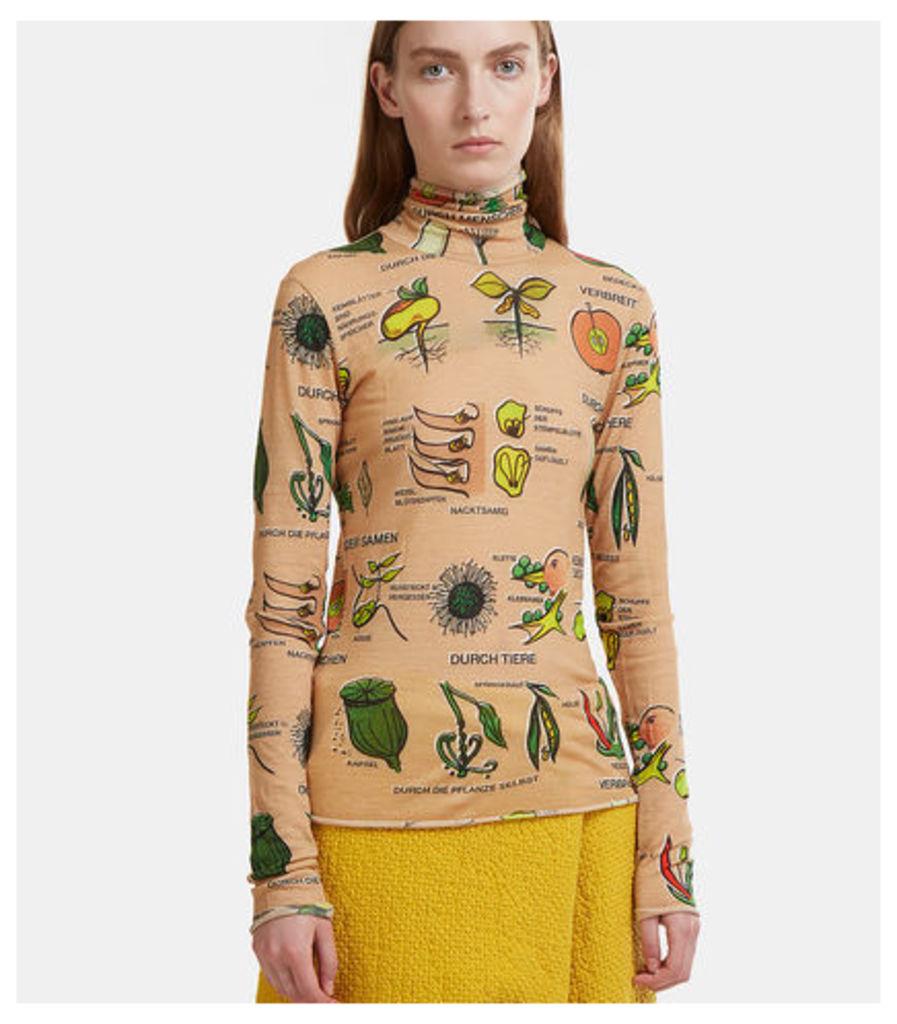 Root Vegetable Roll Neck Top