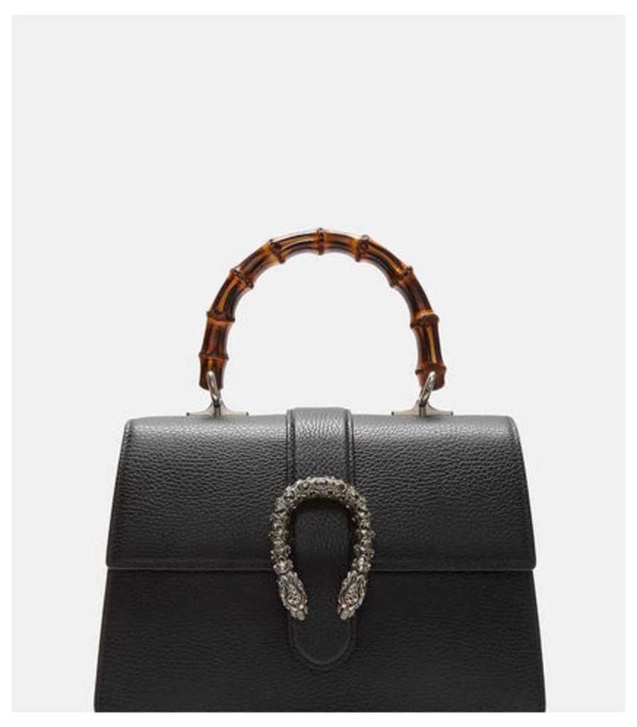 Dionysus Bamboo Top Handle Leather Bag