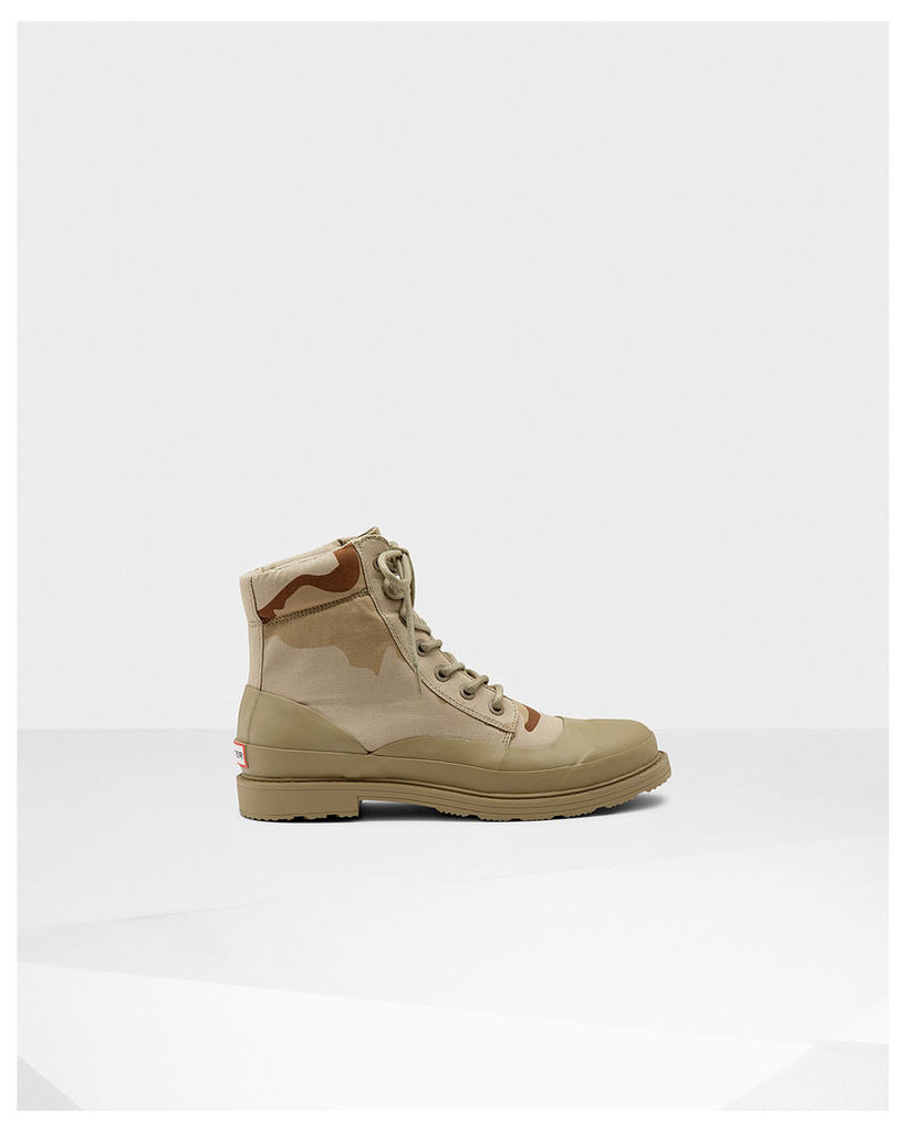 Men's Original Desert Camo Lace-up Canvas Boots