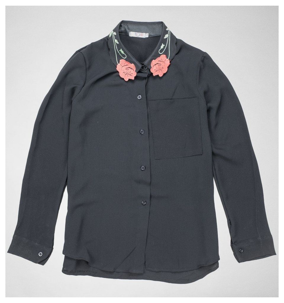 MK9651 Rose Embroidered Blouse