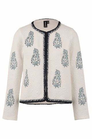 Embroidered Box Jacket