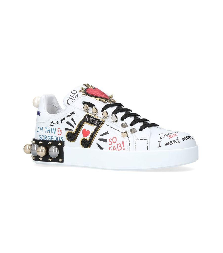 Appliqué Portofino Sneakers