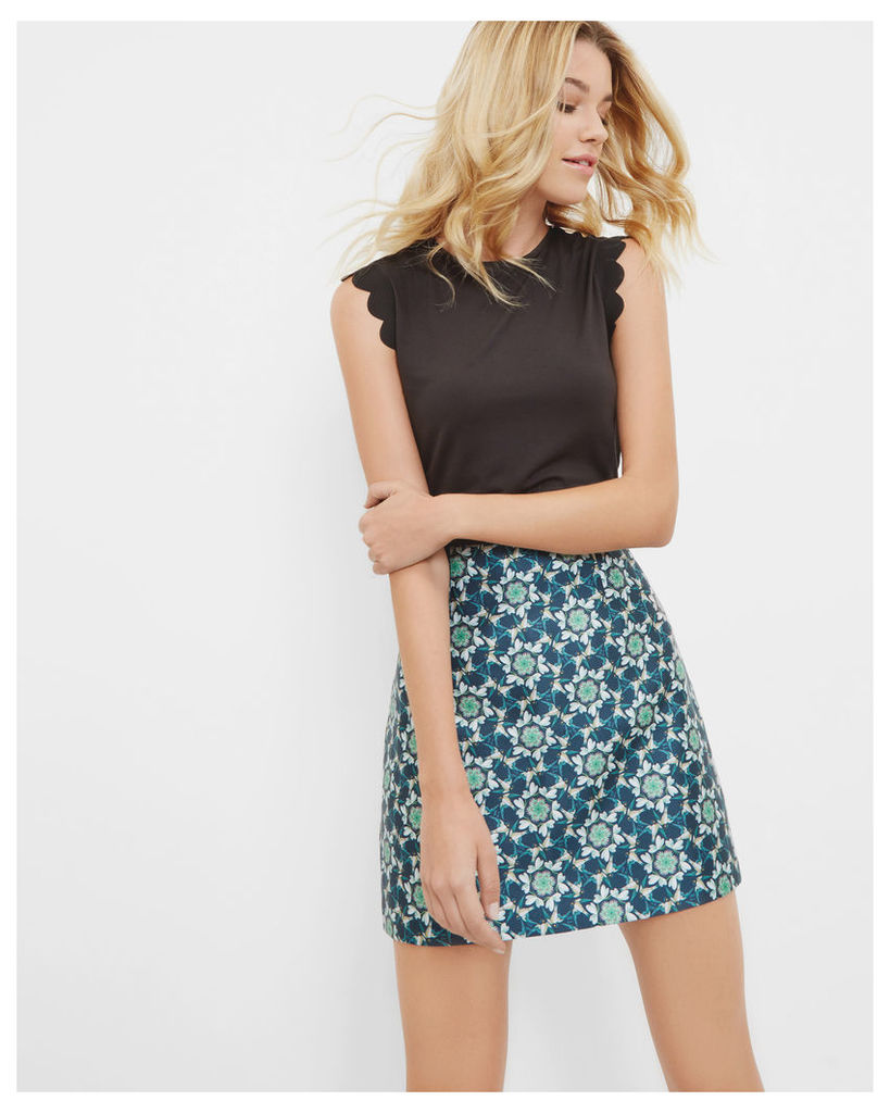 Ted Baker Scallop trim fitted top Black