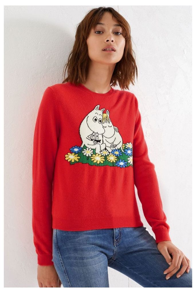NEW Red Moomin & Snork Maiden Cashmere Sweater