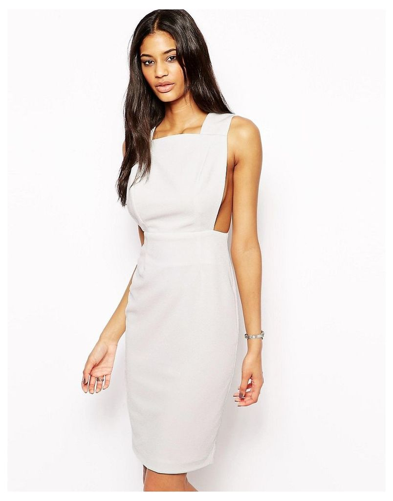 AQ AQ Karla Midi Dress with Cut Out Back - Cream